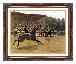 Edgar Degas The False Start canvas with dark regal wood frame