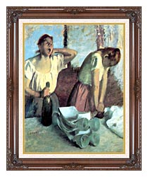 Edgar Degas The Ironers canvas with dark regal wood frame