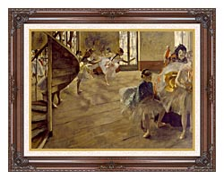 Edgar Degas The Rehearsal canvas with dark regal wood frame