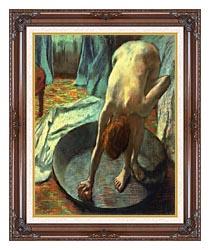 Edgar Degas The Tub Detail canvas with dark regal wood frame