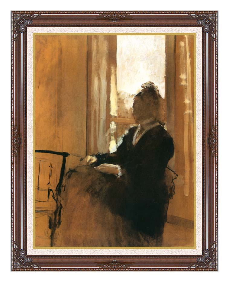 Edgar Degas Woman at a Window with Dark Regal Frame w/Liner