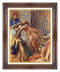 Edgar Degas Breakfast After The Bath canvas with dark regal wood frame