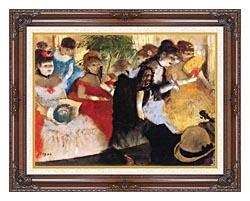 Edgar Degas Cafe Concert canvas with dark regal wood frame