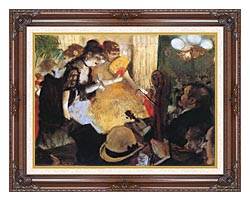 Edgar Degas Cafe Concert Right Detail canvas with dark regal wood frame