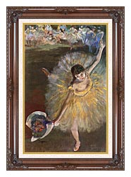 Edgar Degas Fin Darabesque canvas with dark regal wood frame