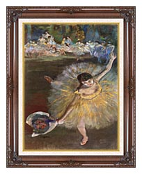 Edgar Degas Fin Darabesque Detail canvas with dark regal wood frame