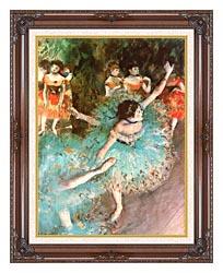 Edgar Degas The Green Dancer canvas with dark regal wood frame