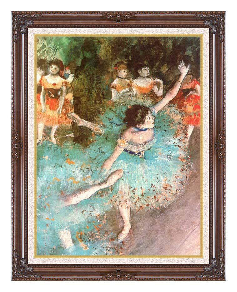 Edgar Degas The Green Dancer with Dark Regal Frame w/Liner