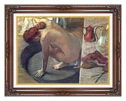 Edgar Degas Degas The Tub canvas with dark regal wood frame