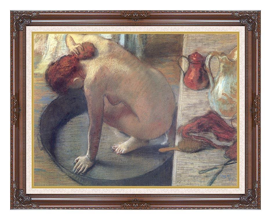Edgar Degas Degas The Tub with Dark Regal Frame w/Liner