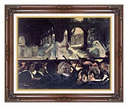 Edgar Degas Ballet Scene From Robert The Devil canvas with dark regal wood frame