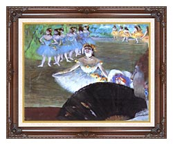 Edgar Degas Dancer With A Bouquet canvas with dark regal wood frame
