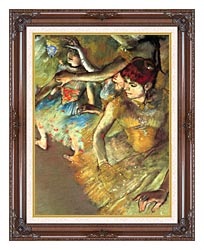 Edgar Degas Dancers canvas with dark regal wood frame