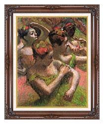 Edgar Degas Ballet Dancers canvas with dark regal wood frame