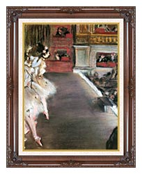 Edgar Degas Dancers At The Old Opera House canvas with dark regal wood frame
