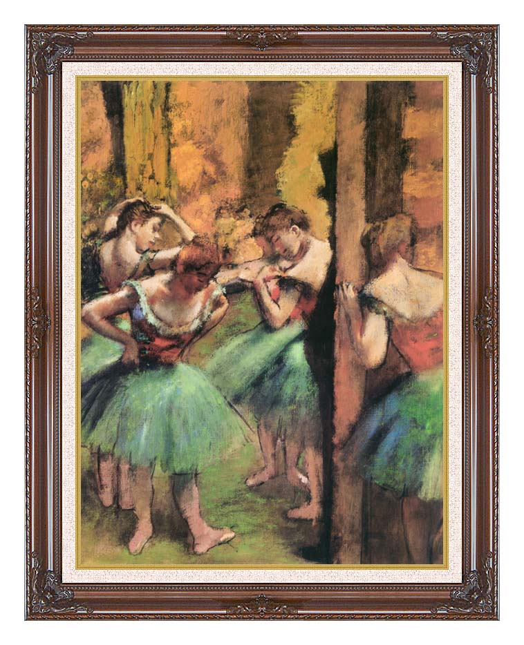 Edgar Degas Dancers in Pink and Green with Dark Regal Frame w/Liner
