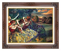Edgar Degas Four Dancers canvas with dark regal wood frame