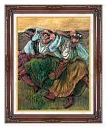 Edgar Degas Les Danseuses Russes canvas with dark regal wood frame