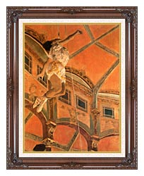Edgar Degas Miss Lala At Cirque Fernando canvas with dark regal wood frame