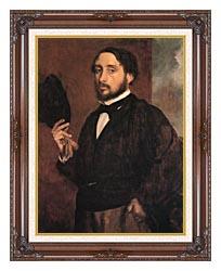 Edgar Degas Edgar Degas Self Portrait canvas with dark regal wood frame