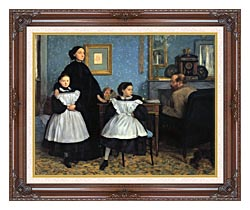 Edgar Degas The Bellelli Family canvas with dark regal wood frame