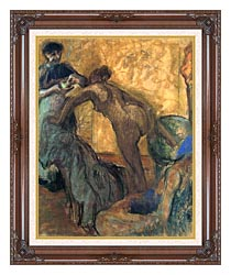 Edgar Degas The Cup Of Chocolate canvas with dark regal wood frame
