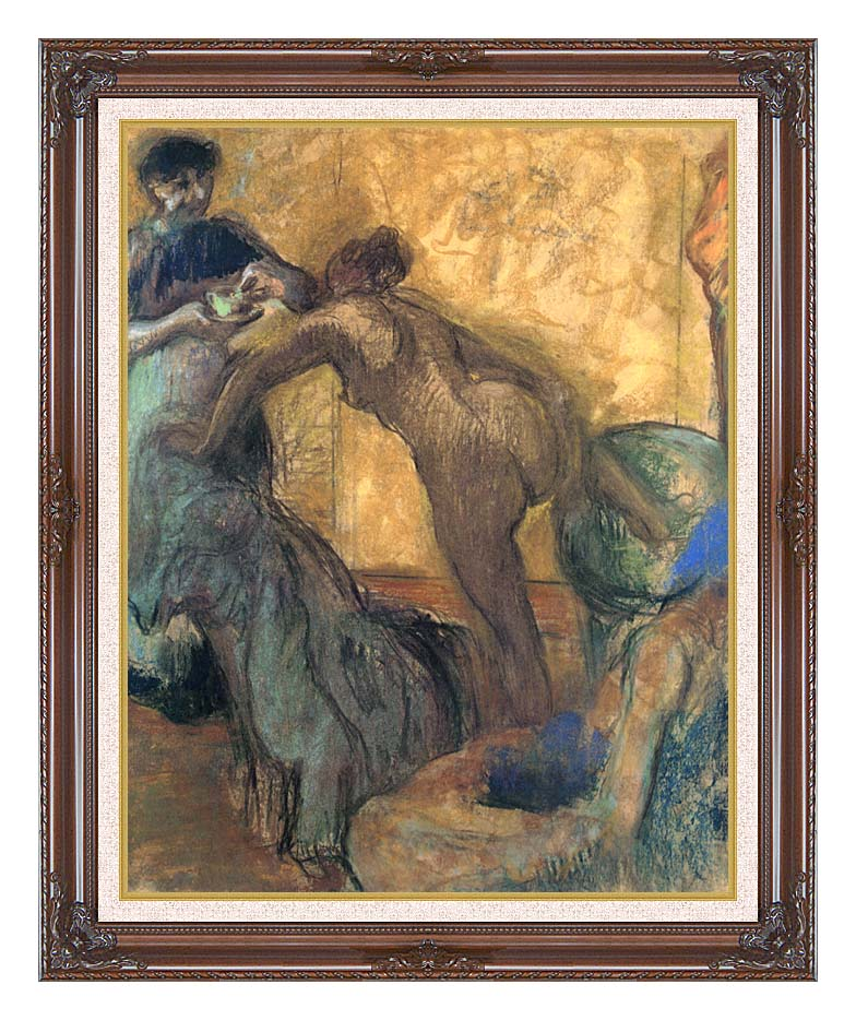 Edgar Degas The Cup of Chocolate with Dark Regal Frame w/Liner