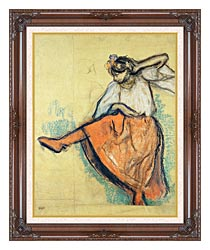 Edgar Degas The Russian Dancer canvas with dark regal wood frame