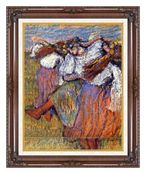 Edgar Degas The Russian Dancers canvas with dark regal wood frame