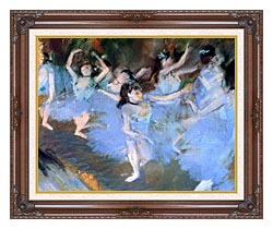 Edgar Degas The Star Dancers Detail canvas with dark regal wood frame