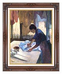 Edgar Degas La Repasseuse canvas with dark regal wood frame