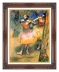 Edgar Degas Two Dancers canvas with dark regal wood frame