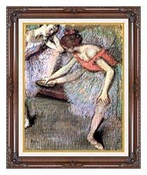 Edgar Degas Danseuses canvas with dark regal wood frame