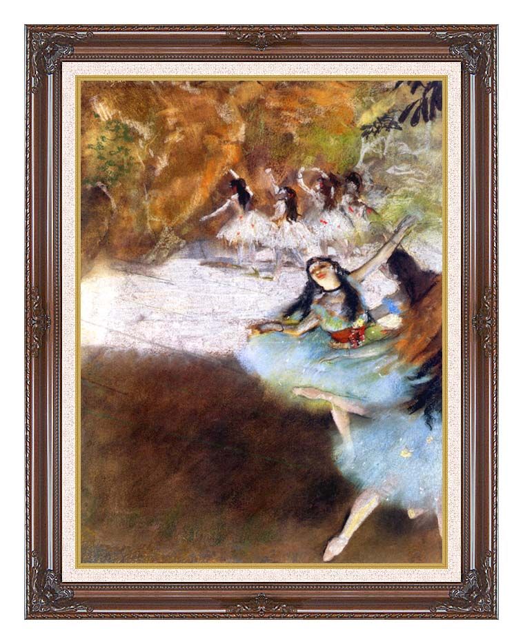Edgar Degas Ballet on the Stage with Dark Regal Frame w/Liner