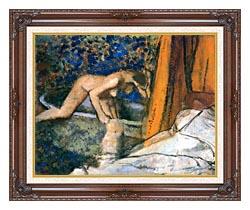 Edgar Degas The Bath Impressionism canvas with dark regal wood frame