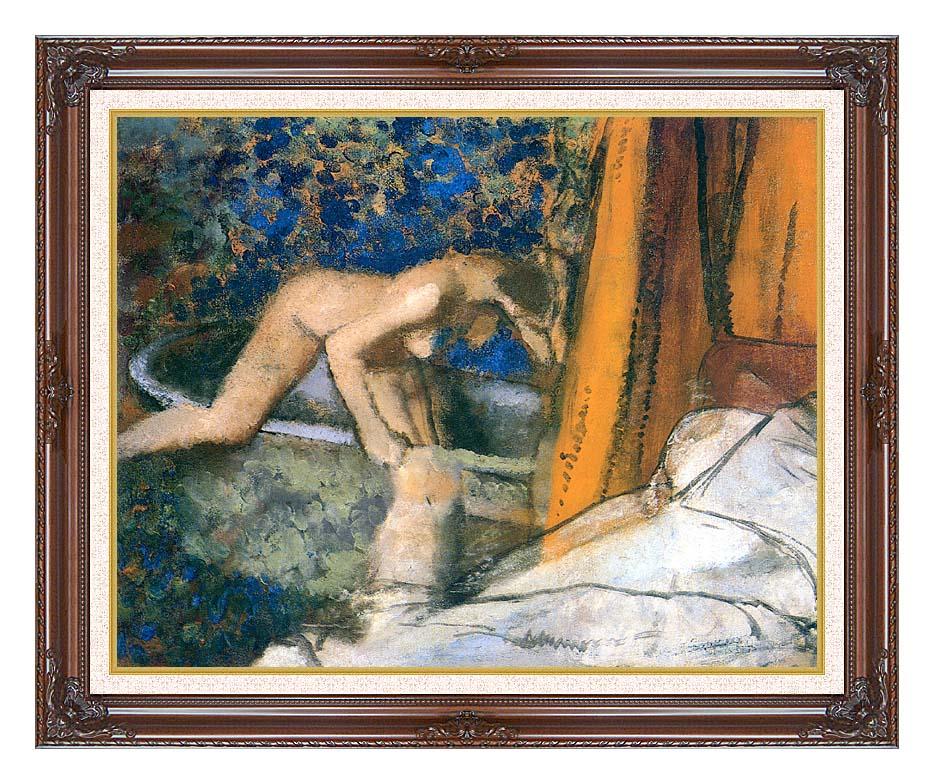 Edgar Degas The Bath, Impressionism with Dark Regal Frame w/Liner