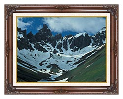 U S Fish And Wildlife Service Aghileen Pinnacles Lefthand Valley Wilderness Area canvas with dark regal wood frame
