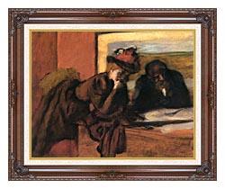 Edgar Degas The Conversation canvas with dark regal wood frame