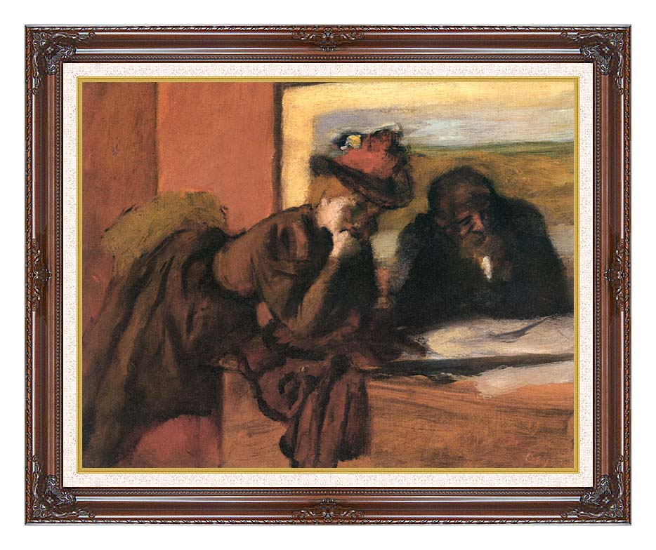 Edgar Degas The Conversation with Dark Regal Frame w/Liner