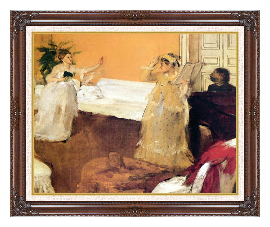 Edgar Degas The Song Rehearsal with Dark Regal Frame w/Liner