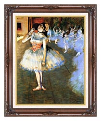 Edgar Degas The Star Impressionist Art canvas with dark regal wood frame