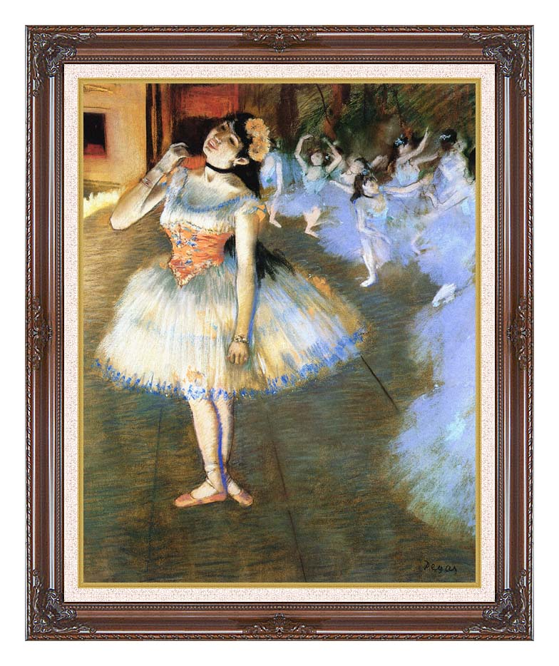 Edgar Degas The Star Impressionist Art with Dark Regal Frame w/Liner