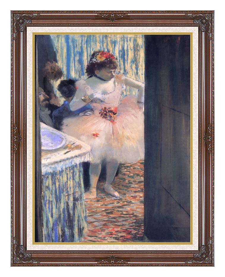 Edgar Degas Dancer in Her Dressing Room with Dark Regal Frame w/Liner