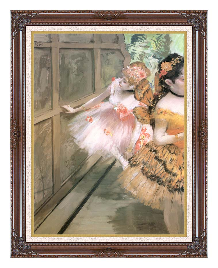 Edgar Degas Impressionist Dancers in the Wings with Dark Regal Frame w/Liner