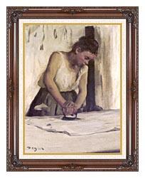Edgar Degas Laundress canvas with dark regal wood frame
