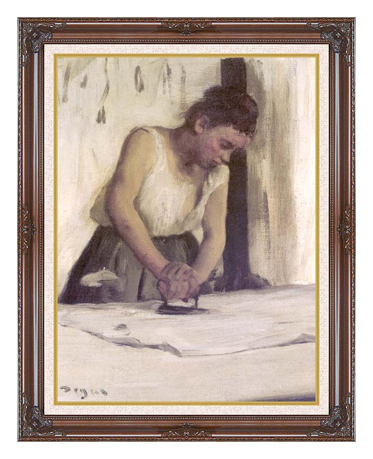 Edgar Degas Laundress with Dark Regal Frame w/Liner