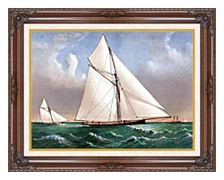 Currier And Ives Cutter Genesta RY canvas with dark regal wood frame