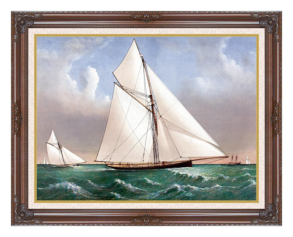 Currier and Ives Cutter Genesta, RY with Dark Regal Frame w/Liner