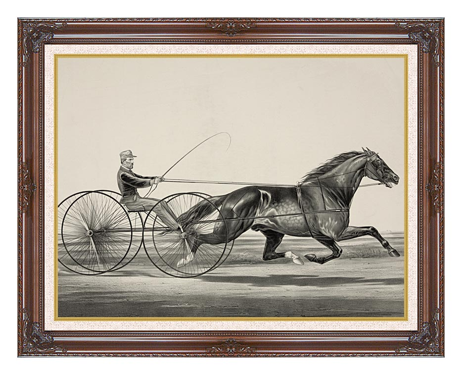 Currier and Ives Dan Rice - Owned by T.M. Lyom Portsmouth, Ohio with Dark Regal Frame w/Liner