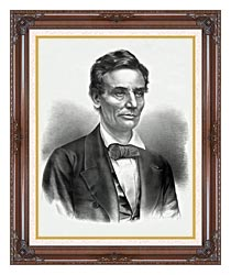 Currier And Ives Hon Abraham Lincoln Of Illinois canvas with dark regal wood frame